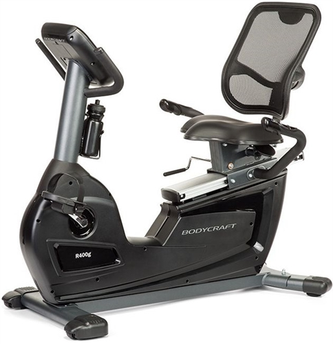 Semi-recumbent exercise bike